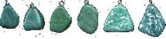 Подвески из зеленого саянского нефрита