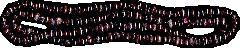 Бусы из натурального темного фиолетового граната