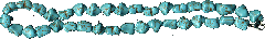 Beads from the natural simulator of turquoise of a