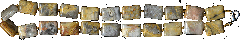 Бусы из натурального золотистого рисунчатого