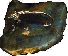 Бронзовый Тигр на лабрадоре