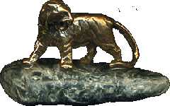 Бронзовый Тигр на зеленом серафините