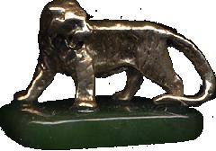 Бронзовый Тигр на нефрите