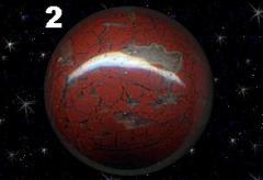 Шар из темно-красной яшмы с халцедоном N 2