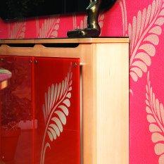 Стекло интерьерное для мебели красное