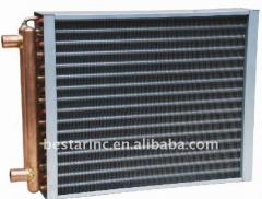 Copper tube fin type cooling coil