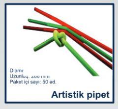 Artistik kokteyl pipetleri