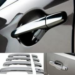 The chromeplated door handles for Prad