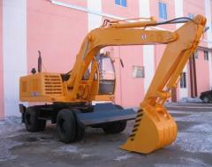 Excavator one-bucket EW-1400, pneumowheel.