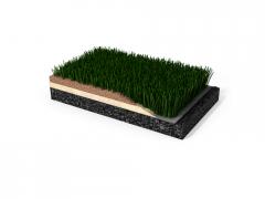 Decorative artificial lawn