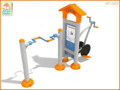Street exercise machines for Disabled people of
