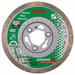 Diamond cutting wheel on a ceramic tile of Best