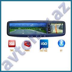 GPS il ə güzgü-monitor. Mirror monitor with GPS.