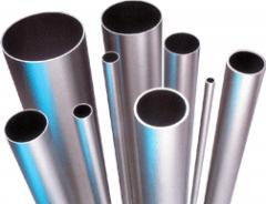 Pipes from a stainless steel