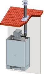 Система отвода дымовых газов Коаксиальное исполнение