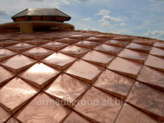 Copper roof, TECU Classic - natural red color of