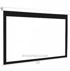 Projection screen black-line electric installation