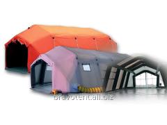 Самовоздвигающаяся палатка обтекаемой формы