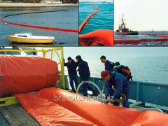 Barrier for deduction of oil spills
