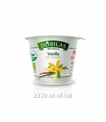 Ecological Dobilas yogurt with vanilla of 125 -