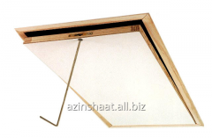Wooden step-ladder on an attic from FAKRO.