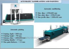 AUTOMATIC SANDBLASTING AND PAINTING