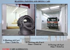 BLASTING, PAINTING AND DRYING CABS