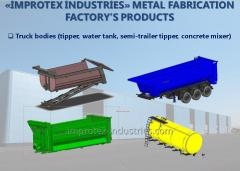 Truck bodies (tipper, water tank, semi-trailer tipper, concrete mixer)