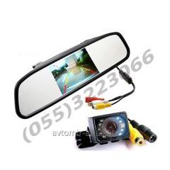 Güzgü-monitor +arxa görüntüsü üçün kamera. Mirror