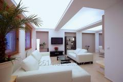 Stretch ceilings for illumination of any