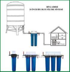 Bina üçün mənzillər üçün yumusaltma su filterleri.