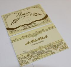 Invitation on a wedding