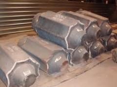 Ingots, preparations steel