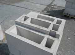 Blocks are reinforced concrete