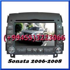 Hyundai Sonata 2006-2008 üçün DVD-monitor. The DVD