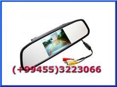 Arxa kamera görüntüsü üçün Güzgü-monitor. A mirror