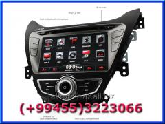 Hyundai Elantra 2011 ucun DVD-monitor. The DVD