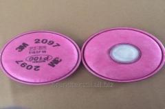3М 2097 - сменный фильтр для респиратора.