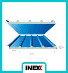 5 Rows Polyurethane Roofing Sandwich Panel PVC
