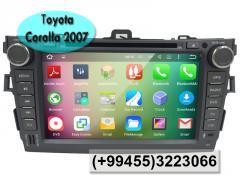Toyota Corolla 2007 üçün DVD-monitor, the DVD