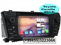 Toyota Corolla 2014 üçün DVD-monitor, the DVD