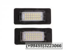 LED nömrə işıqı üçün BMW E82 E88 E90 E92 E93 E60 cедан E39 M5 X5 E70 X6 E71 E72, LED под номерной знак BMW E82 E88 E90 E92 E93 E60 sedan E39 M5 X5 E70 X6 E71 E72.
