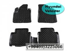 Hyundai Veloster ucun rezin.  Коврики для Hyundai Veloster.