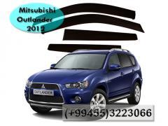 Mitsubishi Outlander 2012 ucun vetroviklər.  Ветровики для Mitsubishi Outlander 2012.