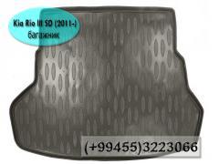 Kia Rio III SD 2011 üçün baqaj örtüyü. Багажный коврик для Kia Rio III SD 2011.