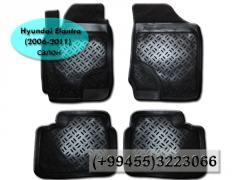 Hyundai Elantra 2006-2011 üçün poliuretan ayaqaltilar.  Полиуретановые коврики для Hyundai Elantra 2006-2011.