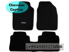 Chevrolet Captiva üçün kovrolit.  Ворсовые коврики для Chevrolet Captiva.
