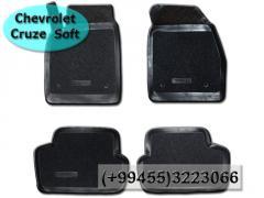 Chevrolet Cruze 2012 üçün poliuretan ve kovrolit ayaqaltilar. Полиуретановые и ворсовые коврики для Chevrolet Cruze 2012.