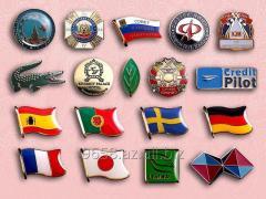 Badges etched under the order
