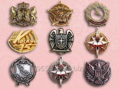 Badges cast under the order